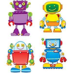 Colorful Robot  Cut-Outs