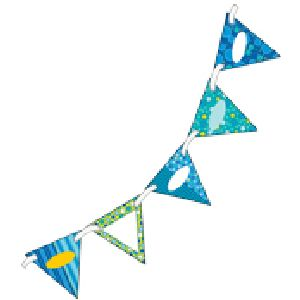 Bubbly Blues 2 sided Pennants