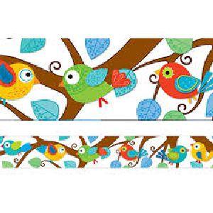 Boho Birds Border