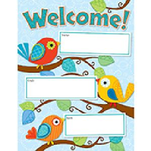 Boho Birds Welcome Sign