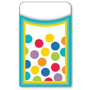 Color Me Bright Library Card Pockets